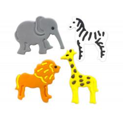 Zuckerdekor Jungle Animals 4 Stück