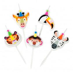 Kerzen Party Animals 5 Stück