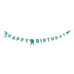 Dinosaur Happy Birthday Party Banner 3,5m