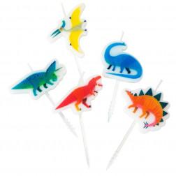 Kerze Dinosaur 5 Stück