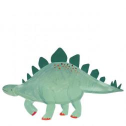 Pappteller Stegosaurus 4 Stück