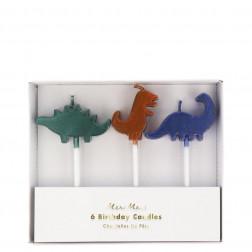 Kerzen Dinosaur Kingdom 6 Stück