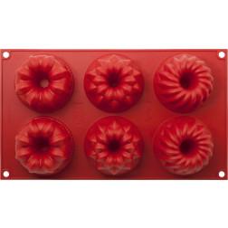 Gugelhupfform silikon rot