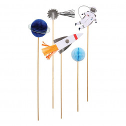 Cake Toppers To The Moon 5 Stück