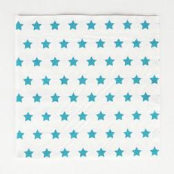 Servietten Sterne blau 20 Stück