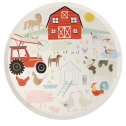 Pappteller On the Farm 8 Stück