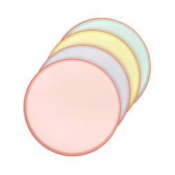 Pappteler Pastel neon Party 12 Stück
