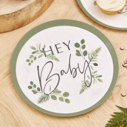 Pappteller Hey Baby Botanical 8 Stück