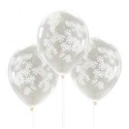 Luftballons Snowflake Confetti 5 Stück