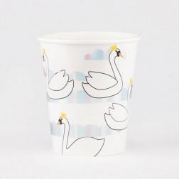 Pappbecher Swan 8 Stück