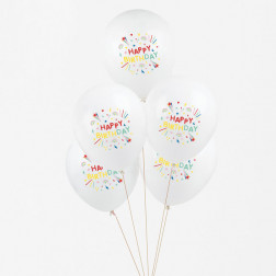 Luftballons Happy Birthday 5 Stück
