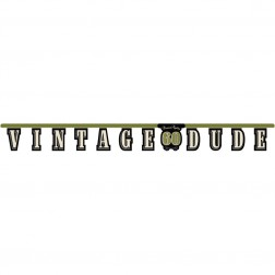 Banner 60. Geburtstag Vintage Dude