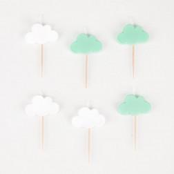 Kerzen Wolken 6 Stück