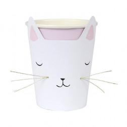 Pappbecher Katze 8 Stück