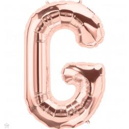 Folienballon Buchstabe G rosegold 86cm