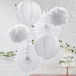 Tissue Set Pompoms Lanterns Fan 6 Stück