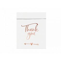 Tüten Thank you rosegold 6 Stück