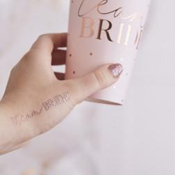 Rose Gold Team Bride Hen Party Tattoos 16 Stück
