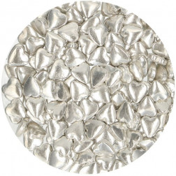 Zuckerherzen Metallic Silber 80g