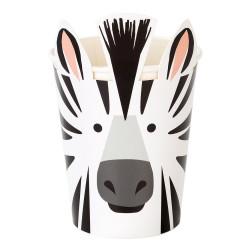 Papbecher Zebra 8 Stück