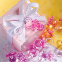 Mini Schnuller Streue rosa 24 Stück
