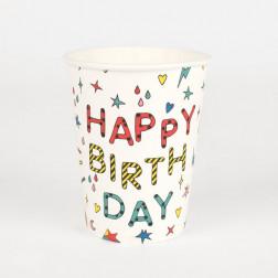 Pappbecher Birthday 8 Stück