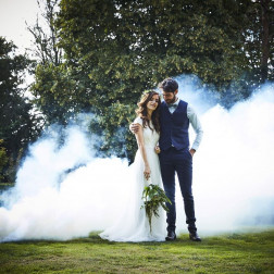 White Wedding Smoke Bomb 13cm