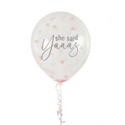 Luftballons She said Yas 5 Stück