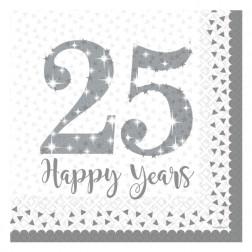 Servietten Happy 25 Years 16 Stück