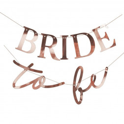 Girlande Bride to be Rosegold