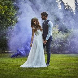 Purple Wedding Smoke Bomb 13cm