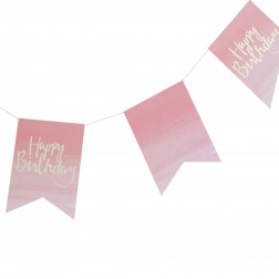 Happy Birthday Flaggen Banner Ombre 3m