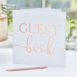 Gästebuch Rose Gold Guest Book
