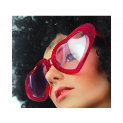 Brille Mega Herz rot