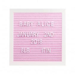 Letter Board Set pink