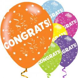 Luftballons Congratulation 6 Stück