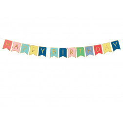Banner Happy Birthday mix 15 x 175 cm