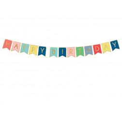 Banner Happy Birthday mix 15 x 175 cm