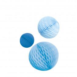 Wabenbälle Blau 3 Stück