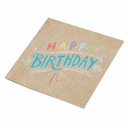 Servietten Happy Birthday kraft 20 Stück