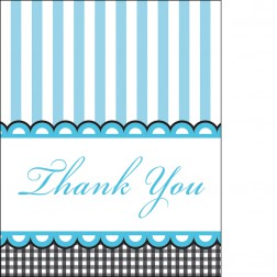 Dankeskarte - Thank You Cards blau 8 Stück