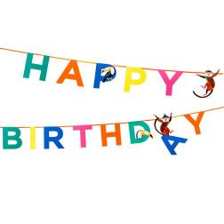 Girlande Happy Birthday Animals 3,5m