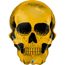 Folienballon Golden Skull 91cm