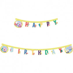 Peppa Pig Happy Birthday Banner 2m