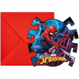 Spiderman Einladungskarten 6 Stück