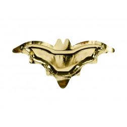 Pappteller Fledermaus gold 6 Stück