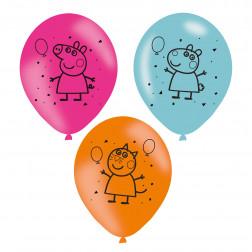 Luftballons Peppa Pig 6 Stück