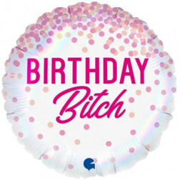 Folienballon Birthday Bitch 46cm