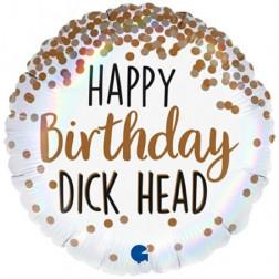 Folienballon Birthday Dick Head 46cm