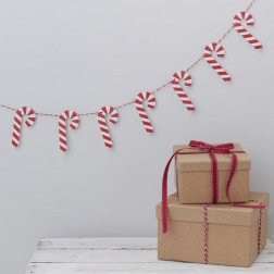 Candy Cane Christmas Bunting 1,5m